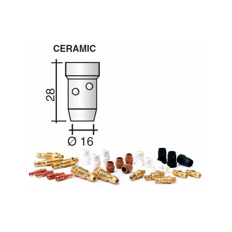Diffuseur gaz en céramique blanc Lg.28mm d.16mm