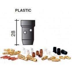 Diiffuseur gaz en plastique noir Lg.28mm