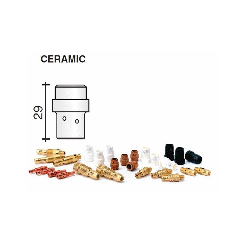diffuseur gaz en céramique blanc Lg.29mm