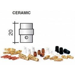 Diffuseur gaz en céramique blanc Lg.20mm