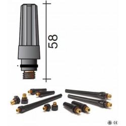 Bouchon moyen Lg.58mm pour torche TIG 17/18/26