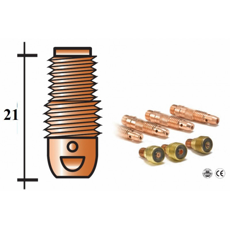 Diffuseur d.1,6mm pour torche TIG 9-20