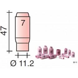 Buse Gr.7 d.11,2mm Lg.47mm pour torche TIG 17,18 et 26