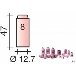 Buse Gr.8 d.12,7mm Lg.47mm pour torche TIG 17,18 et 26