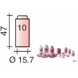 Buse Gr.10 d.15,7mm Lg.47mm pour torche TIG 17,18 et 26