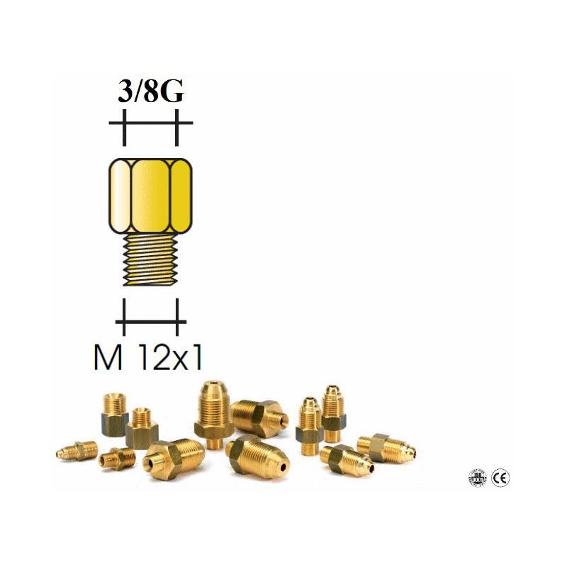 Réduction en laiton M 12x1 - F 3/8G