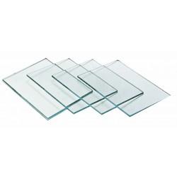 Verre minéral 105 x 50 x 4 mm incolore.